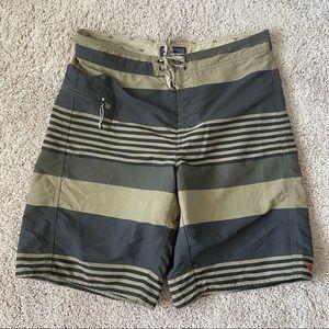 Patagonia Boardshorts Size 32 Mens Stripe Tan Gray